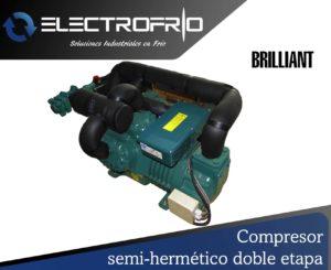 Electrofrío - Compresor semi-hermético doble etapa