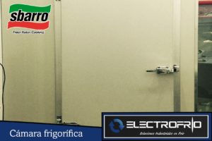 Electrofrío - Instalación de cámaras frigoríficas en Sbarros 2