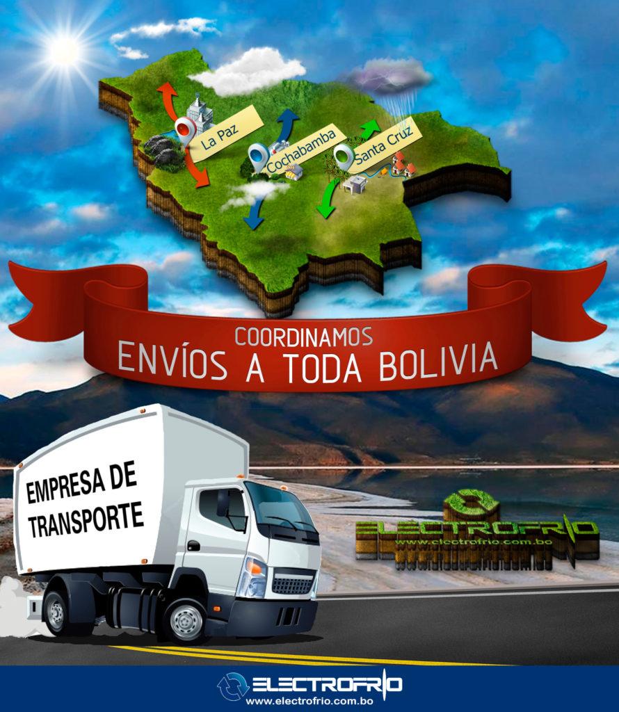 Electrofrío - Coordinamos envíos hacia toda Bolivia 2