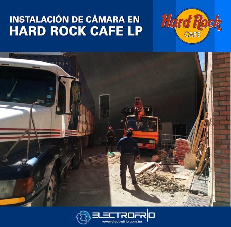 Electrofrío - Instalación de cámara frigorífica en Hard Rock Café La Paz 4