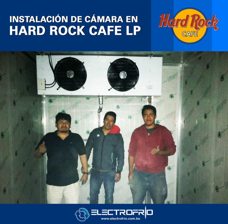 Electrofrío - Instalación de cámara frigorífica en Hard Rock Café La Paz 5