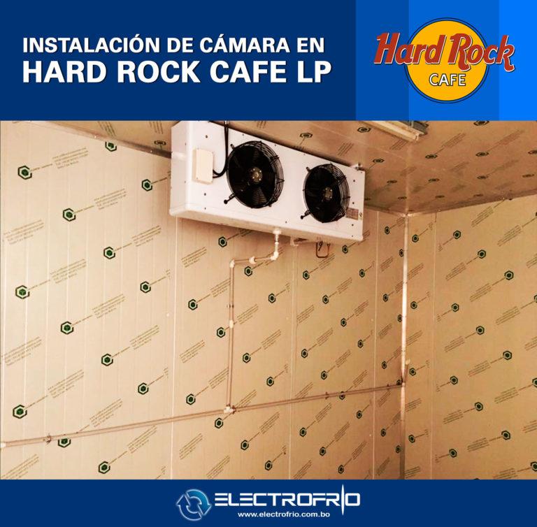 Electrofrío - Instalación de cámara frigorífica en Hard Rock Café La Paz 6